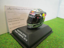 ARAI HELMET CASQUE F1 S.VETTEL WORLD CHAMPION 2010 au 1/8 d MINICHAMPS 381100105