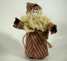 Crafted CLOTH SANTA Claus in Lounge Clothes Figurine Figure Decoration Xmas