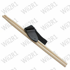 * neuf * guitar hero remplacement drum sticks + sangle PS3 Wii XBox 360 PS2 rock band