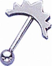 Piercing TIPO Pesa 16G Ceja Anillo Con Diseño Ondulado