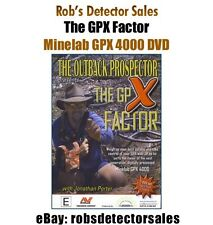 The GPX Factor DVD for Minelab GPX-4000 Metal Detector - Gold Nuggets & Mining