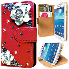 3D Diamond Leather Wallet Case Cover For Samsung Galaxy S3 S4 S5 & S3 S4 Mini