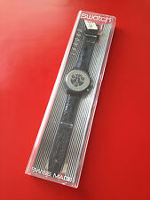 1991 Swatch Watch Classic Chrono Silver Star New In Box SCN102