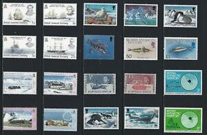 H 143 British Antarctic Territory/A Small Collection Early & Modern Umm Lhm Used