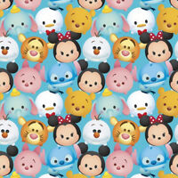 Disney Tsum Mickey & Friends Packed 100% cotton fabric by the yard