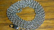 """Solid platinum 2mm necklace chain 8.31 grams 20.5"""" long"""