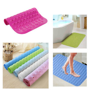 Large Mat-Foot Massage Rubber Non Slip Bathroom Bath Shower Mat Strong Suction