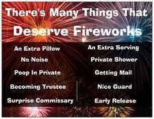 "Jail Prison Inmate Postcard ""Fireworks"""