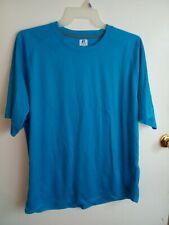 Russell athletic Men's Blue Dri-power Short Sleeve Shirt Size Xl