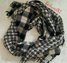 New NWT J.crew Mixed Plaid Scarf in Navy Poppy