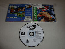 PS1 PLAYSTATION VIDEO GAME STREET FIGHTER ALPHA 3 W CASE & MANUAL CAPCOM