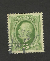 SWEDEN-USED  STAMP - 5 ore - 1891/1910.
