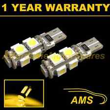 2x W5W T10 501 Errore Canbus libero XENO ambra 9 LED Side Repeater BULBS sr101702