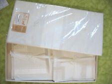 Vtg Ivory Damask Linen Tablecloth 62 Xx 102 & 12 Lapkin Napkins Bouquet Set Nib