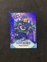 2019-20 UPPER DECK ICE QUINN HUGHES ROOKIE SUB ZERO PURPLE SZ-43 #ed 587/999