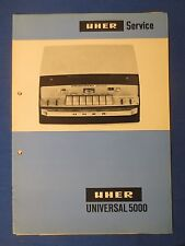 UHER UNIVERSAL 5000 SERVICE MANUAL FACTORY ORIGINAL ISSUE THE REAL THING