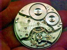Waltham 16S 17J Royal Gold Star Regulator Open Face Pendantset Nickel Movement
