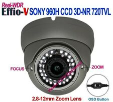 1/3 SONY 960H CCD Effio-V WDR 3DNR WEATHERPROOF IR NIGHT VISION CCTV DOME CAMERA