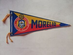 Vintage Mexican MORELIA SOCCER TEAM FUTBOL liga mx pennant Flag from 60's
