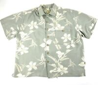 Joe Marlin Mens Shirt Sz L Floral Hawaiian Button Front Short Sleeve Camp Casual