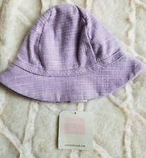 NWT JANIE & JACK Petite Blooms Lavender Garden Hat Chin Strap 0-3 Months Layette
