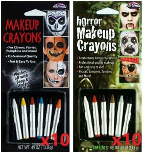 LOT OF 20 - Fun World Halloween Unisex Adults Multicolor Horror Makeup Crayons