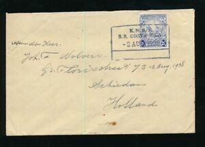 BARBADOS 1938 SHIP SS COSTA RICA DUTCH NETHERLANDS SEEPOST BOXED
