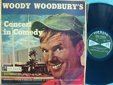 Woody Woodbury ORIG NZ LP Concert in comedy VG+ '61 Top Rank 39-695 Comedy