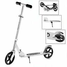Folding Portable Adjustable Kick Scooter Aluminum Lightweight Kids/Adult Silver