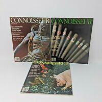 Connoisseur Vintage Magazine Lot of 3 November 1982, January 1984, March 1984