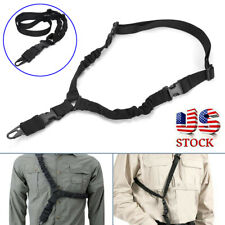 Tactical Single Point Rifle Sling Shoulder Strap Adjustable Hunting Accessories