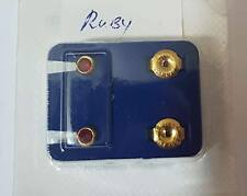 1 Doz Caflon 24ct Gold Plated Assorted Birthstone Stud.