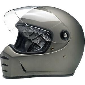 BILTWELL Lane Splitter Helmet - Flat Titanium - Large  1004-803-104