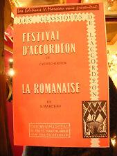 Partition Festival d'Accordéon Verschueren La Romanaise V Marceau 1962