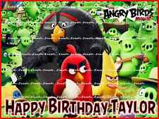 ANGRY BIRDS MOVIE: personalized edible cake topper FREE SHIPPING in Canada