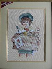 Framed Jan Hagara Design Colorart Crewel MARK Victorian Boy Toys 15x19 JCA New