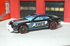 Hot Wheels '10 Chevy Camaro SS - Black - HWPD Police Car Rescue - Loose - 1:64
