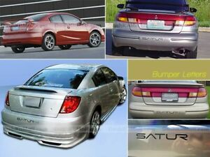 DKM   GLOSSY BLACK BUMPER INSERTS FOR SATURN ION REAR LETTER INSERTS NOT DECALS
