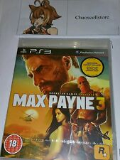 MAX PAYNE 3 PS3 Nuovo Sigillato UK PAL VERSION GIOCO SONY PLAYSTATION 3 Black Label