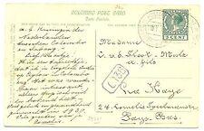 NED INDIE S.M.N. 1930 AK-COLOMBO = S.S. KONINGIN DER NEDERLANDEN= PM- POSTAGENT