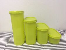 Tupperware Oval Modular Mates Storage Containers Sheer Green #1, #2, #3, #4 New