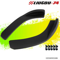 Universal Front Bumper Lip Flat Under Panel Splitter Plate Diffuser Wind Blade