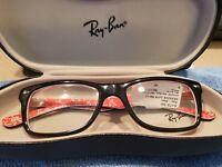 Ray Ban RB 5228 2479 eyeglass  frames Highstreet Black Red 50 17 140 New