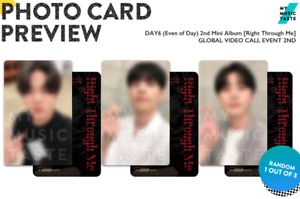 DAY6 Even Of Day - Right Through Me MMT My Music Taste Photocard V2 (YoungK)