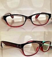 2 Pair +1.50 Foster Grant Carletta Premium Reading Glasses Red Pink Spring Hinge