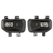 2pcs Left+Right 35W Clear Fog Lights With H10 Bulbs Fit 2015-2017 Ford F150