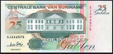 1996 SURINAME 25 GULDEN BANKNOTE * AJ 444976 * UNC * P-138c *