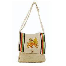 Lion Of Judah Hemp Boho Rastafari Rasta Shoulder Bag Reggae Marley Hawaii IRIE
