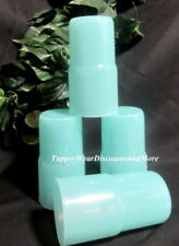 Tupperware New Set of 4 12 ounce TableTop Stacking Tumblers in Sheer Mint Green