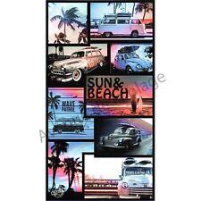 Drap de bain, serviette de plage voitures anciennes, accessoire de plage neuf